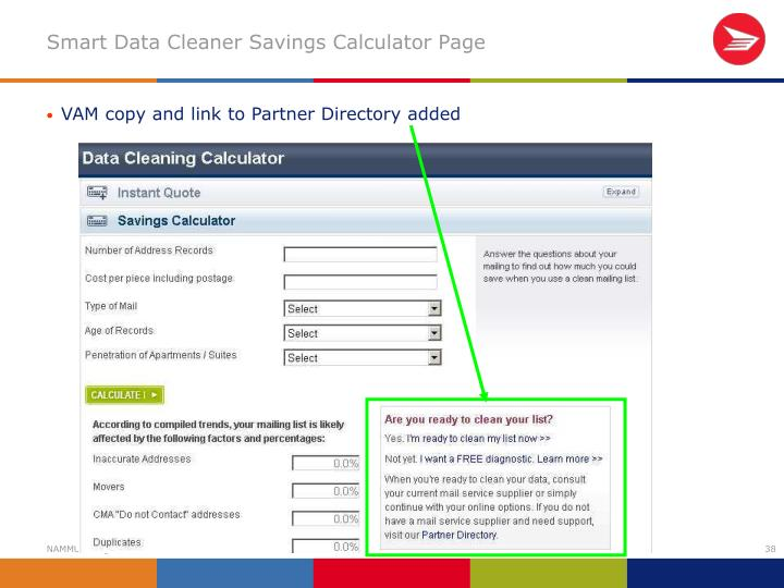 Smart Data Cleaner Savings Calculator Page