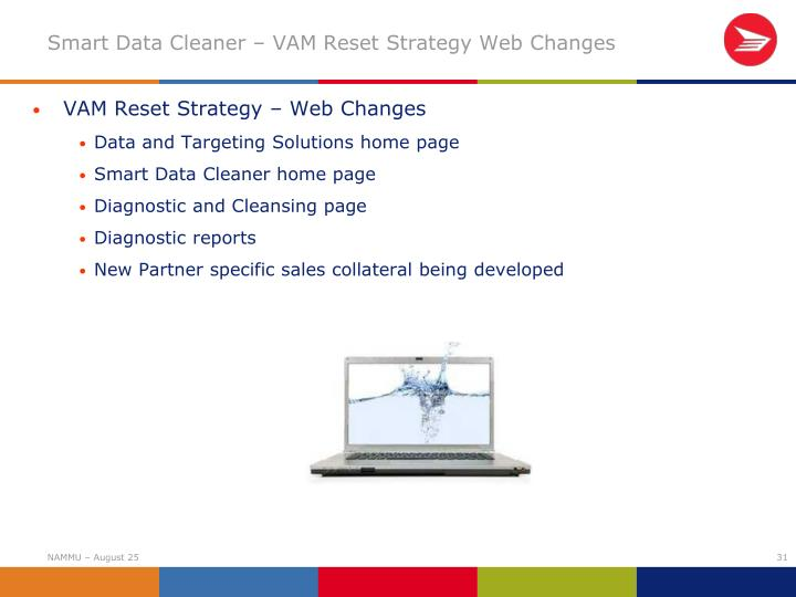 VAM Reset Strategy – Web Changes
