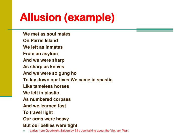 Allusion (example)