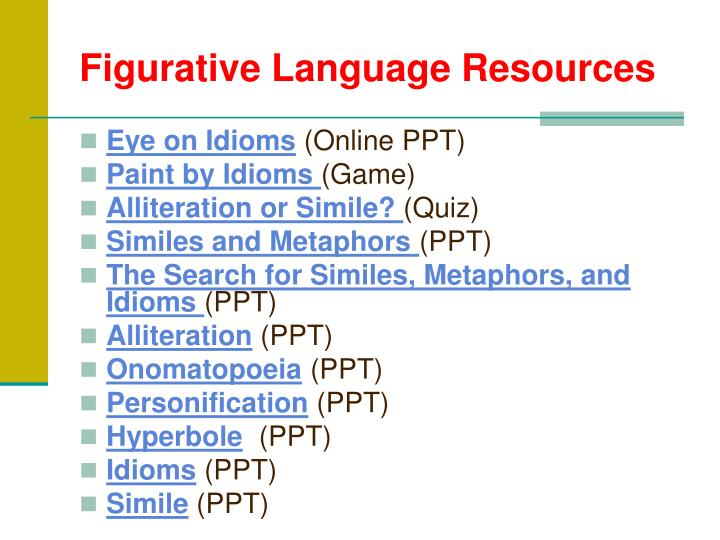 Figurative Language Resources