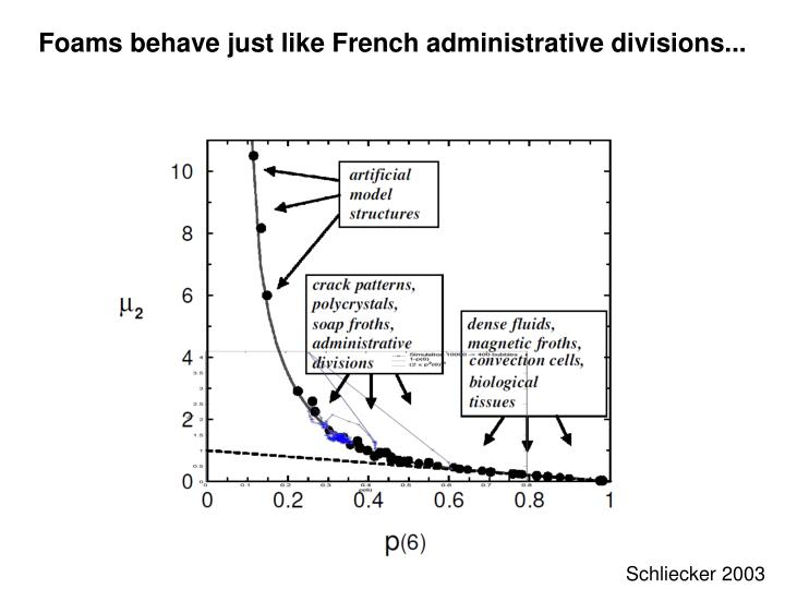 Foams behave just like French administrative divisions...