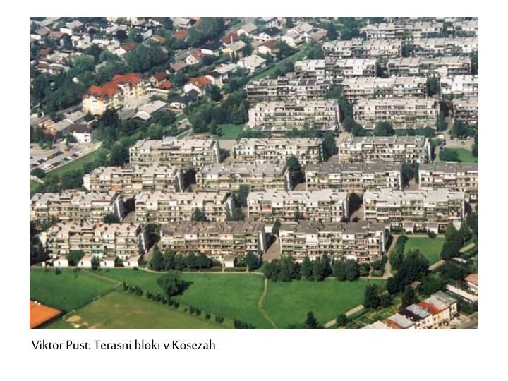 Viktor Pust: Terasni bloki v Kosezah