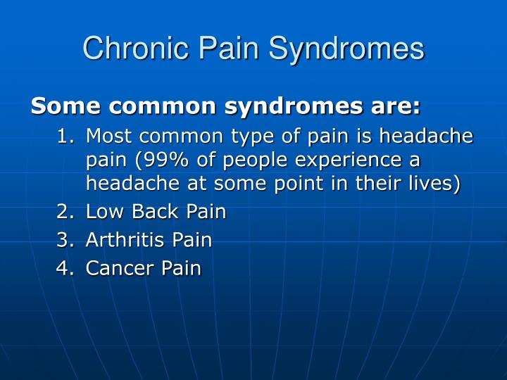 Chronic Pain Syndromes