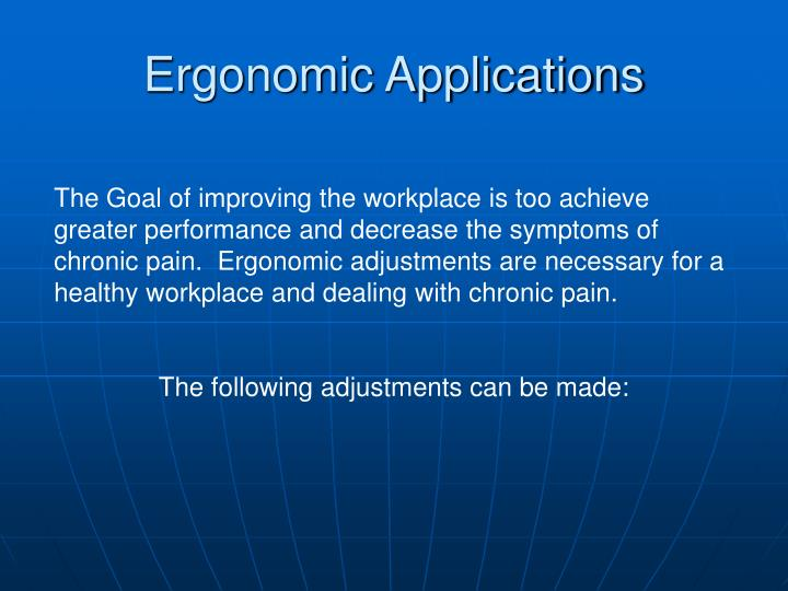 Ergonomic Applications
