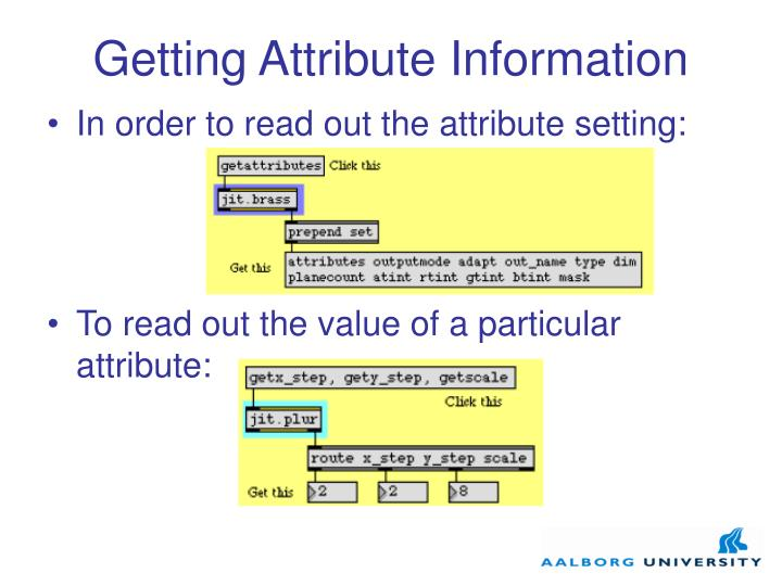 Getting Attribute Information