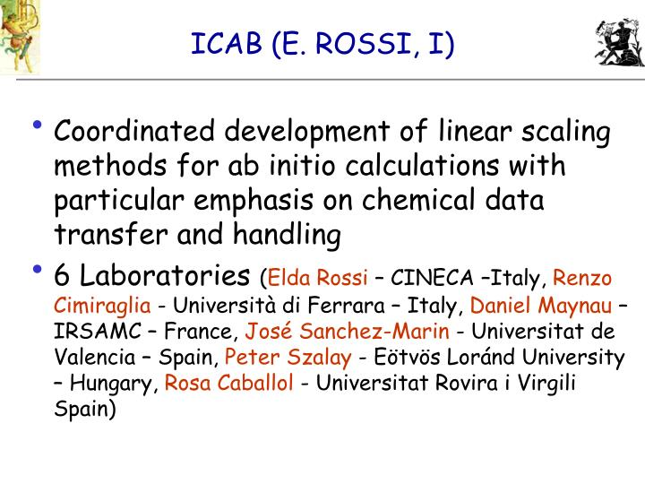 ICAB (E. ROSSI, I)