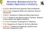 metachem matalaboratories for complex applications in chemistry