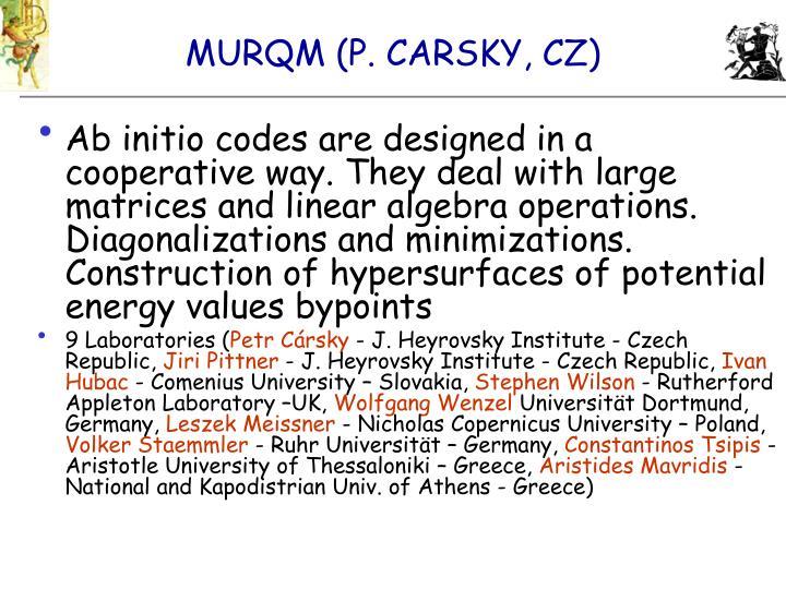 MURQM (P. CARSKY, CZ)