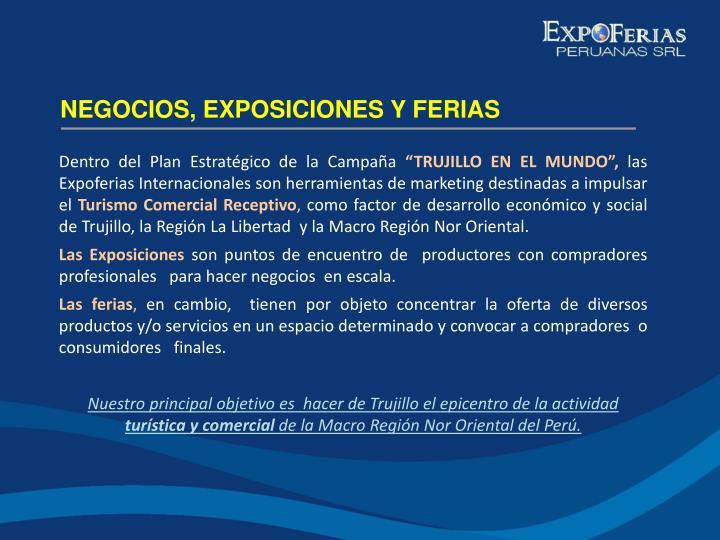 NEGOCIOS, EXPOSICIONES Y FERIAS
