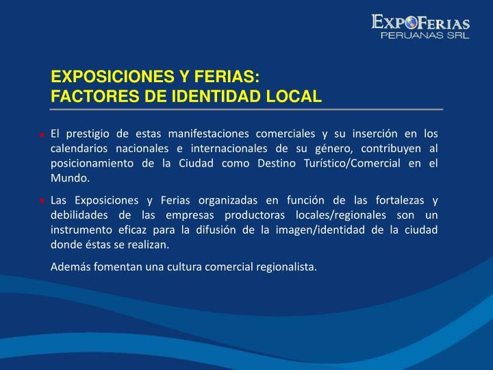 EXPOSICIONES Y FERIAS: