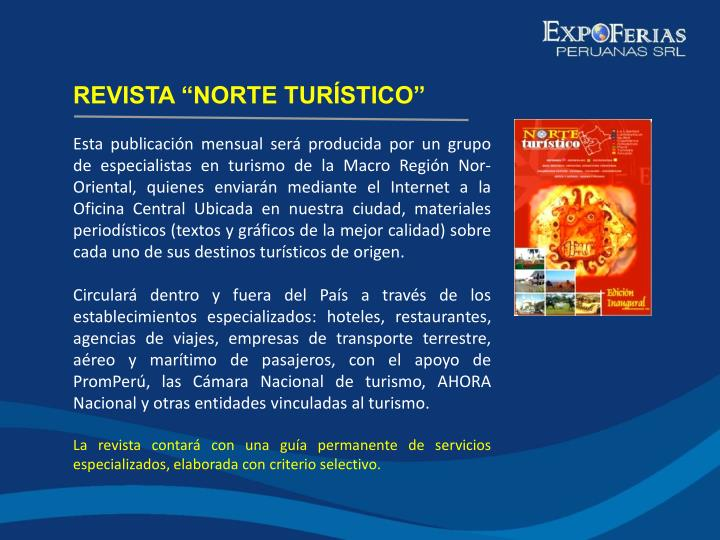 "REVISTA ""NORTE TURÍSTICO"""