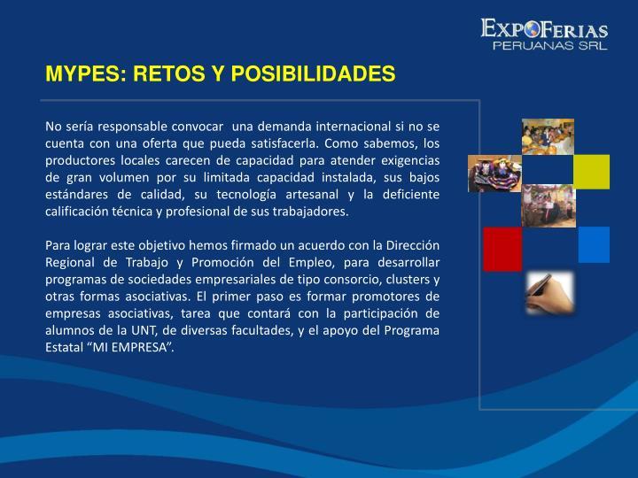 MYPES: RETOS Y POSIBILIDADES