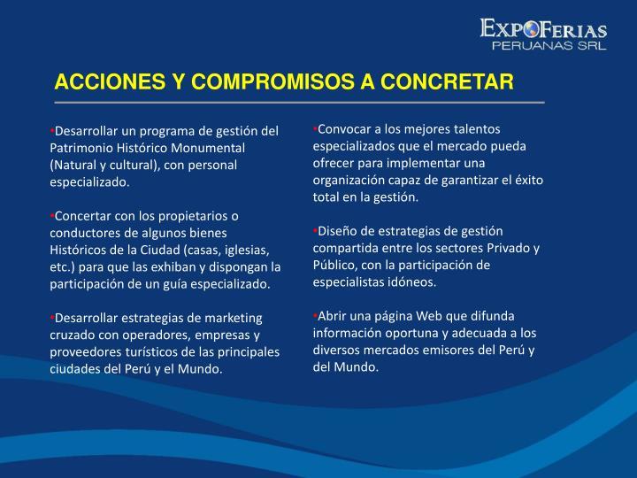 ACCIONES Y COMPROMISOS A CONCRETAR