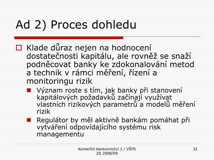 Ad 2) Proces dohledu