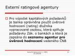 extern ratingov agentury