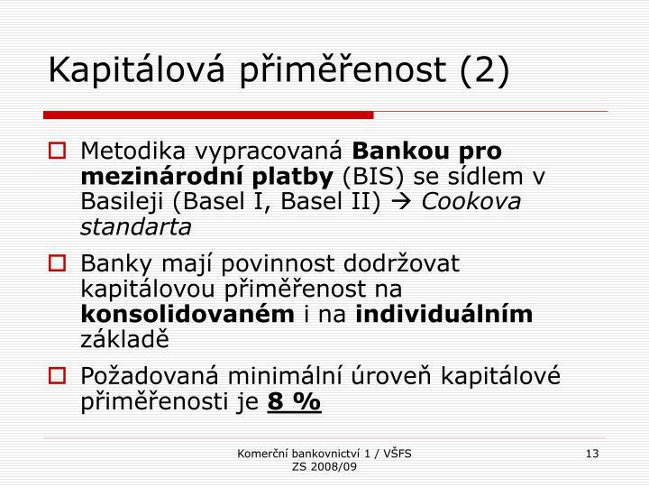 Kapitálová přiměřenost (2)