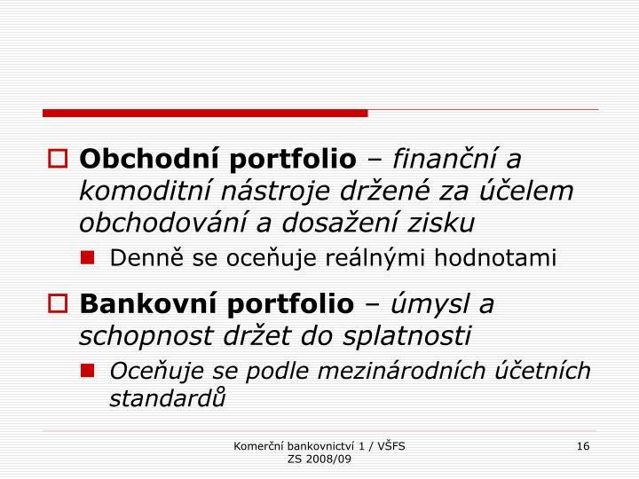 Obchodní portfolio