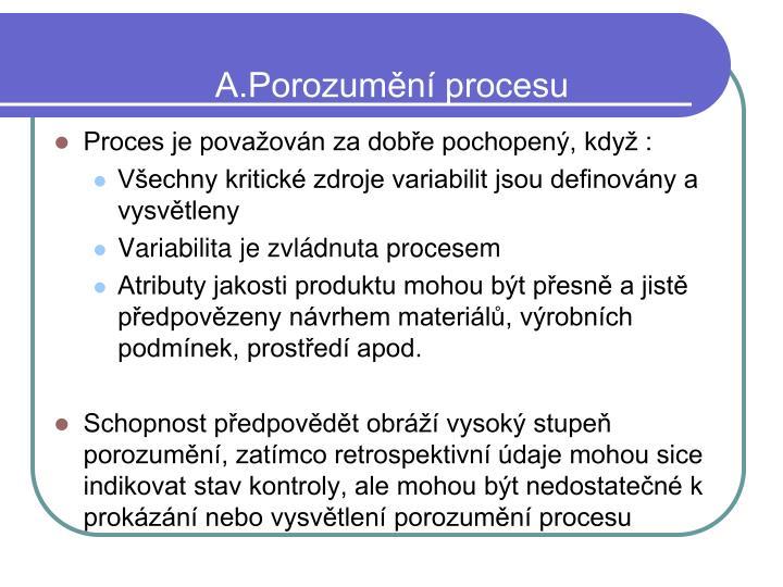 A.Porozumění procesu