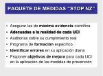 paquete de medidas stop nz
