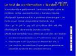 le test de confirmation western blot