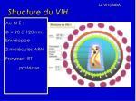 structure du vih