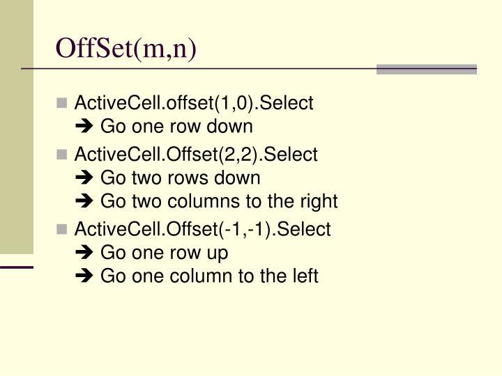 OffSet(m,n)