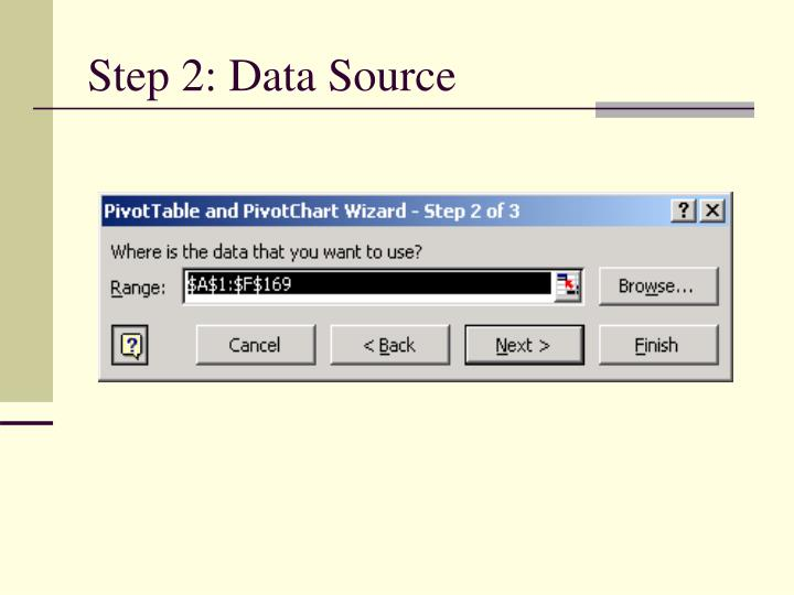 Step 2: Data Source