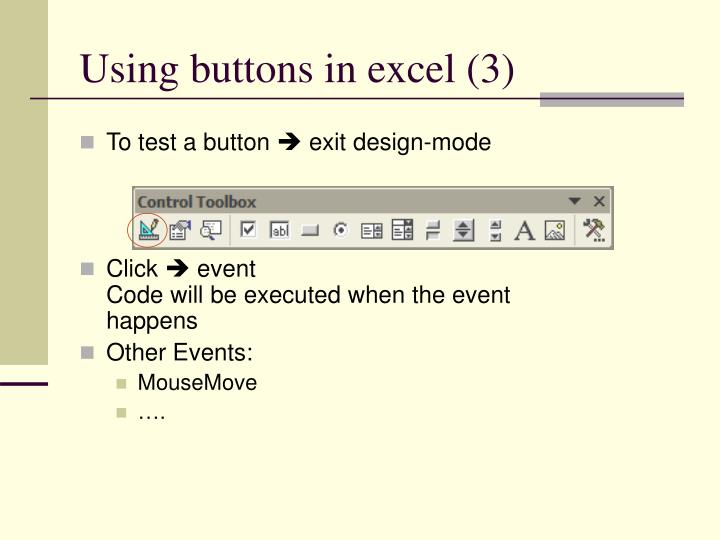 Using buttons in excel (3)