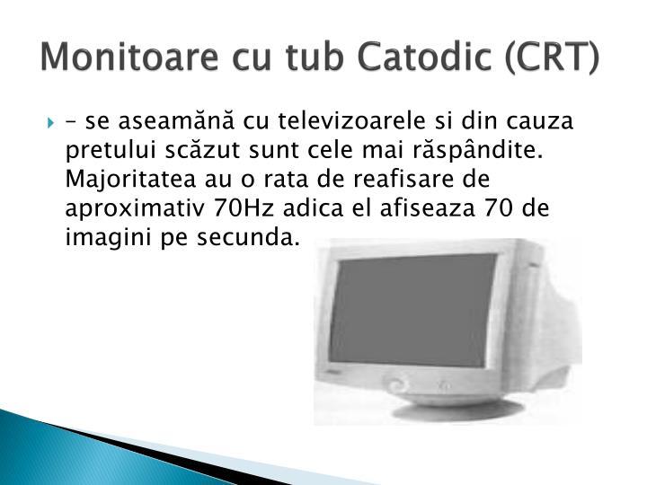 Monitoare cu tub Catodic (CRT)