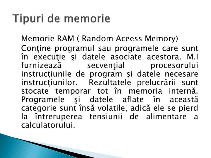 Tipuri de memorie
