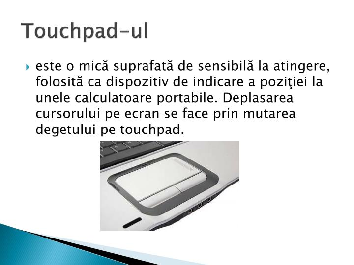 Touchpad-ul