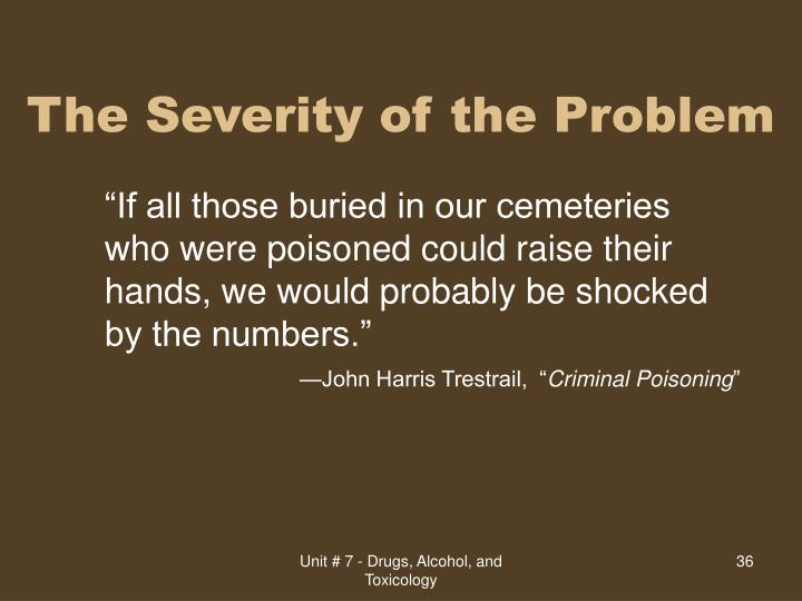 The Severity of the Problem