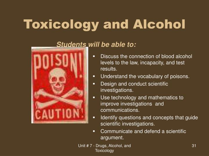 Toxicology and Alcohol