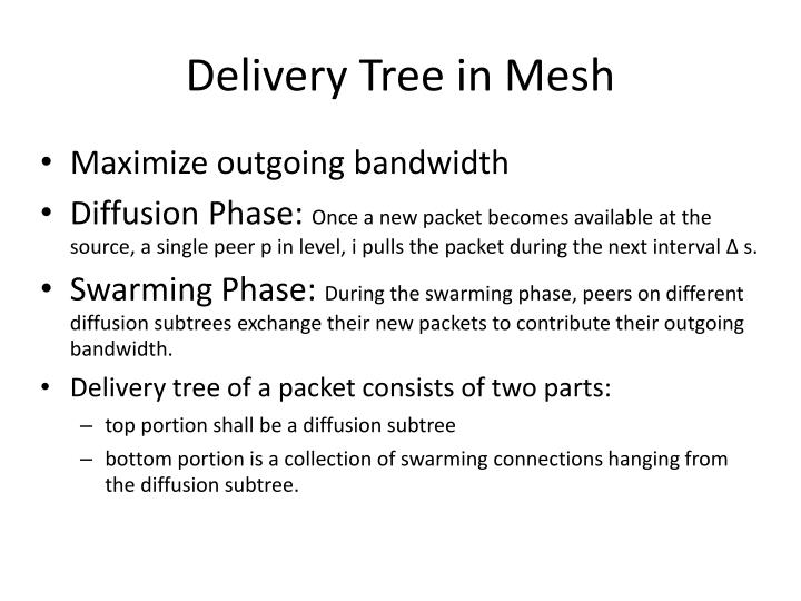 Delivery Tree in Mesh
