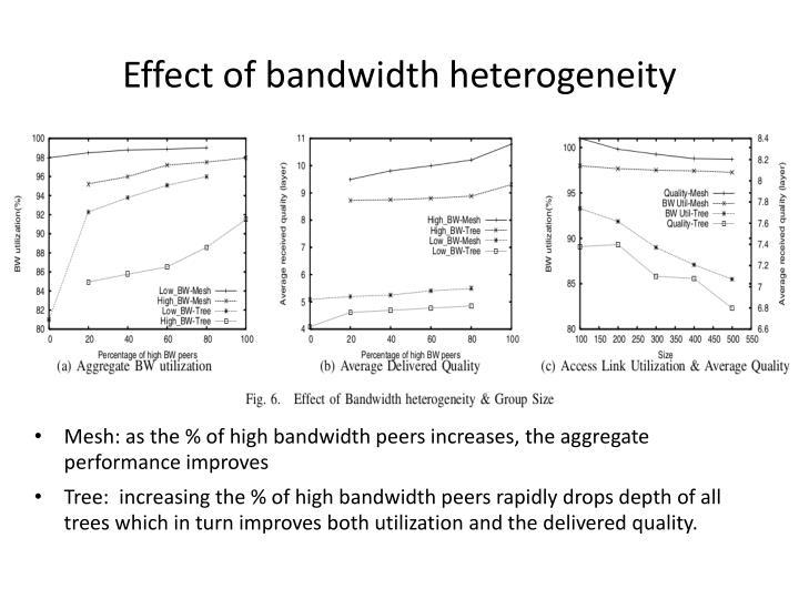 Effect of bandwidth heterogeneity