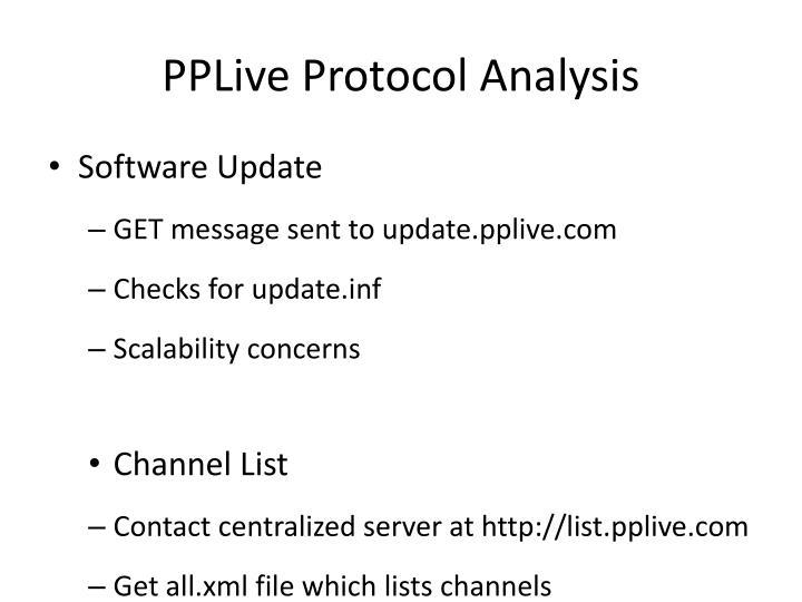 PPLive Protocol Analysis