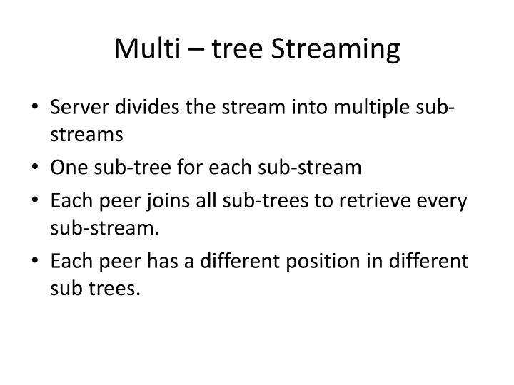 Multi – tree Streaming