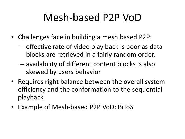Mesh-based P2P VoD
