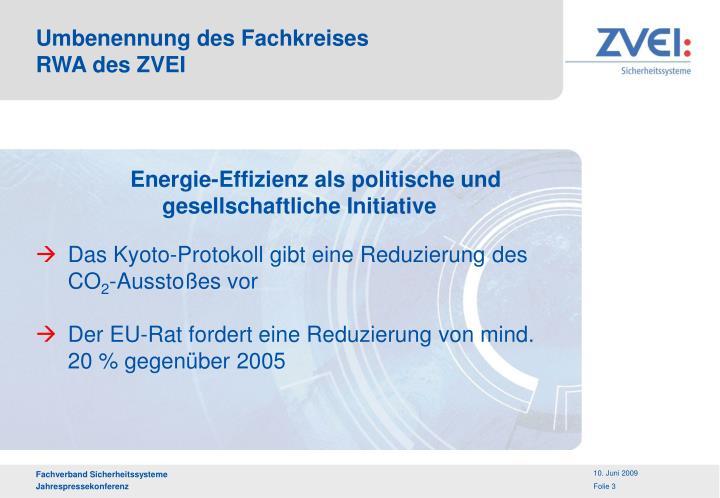 Energie-Effizienz als politische und gesellschaftliche Initiative