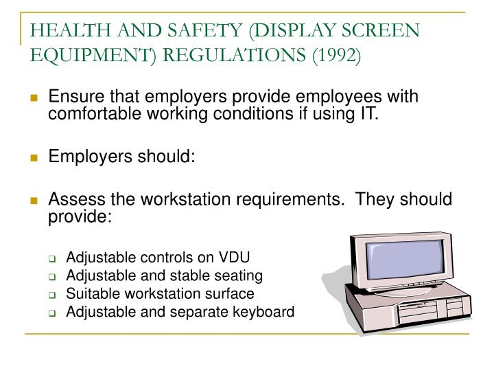 HEALTH AND SAFETY (DISPLAY SCREEN EQUIPMENT) REGULATIONS (1992)