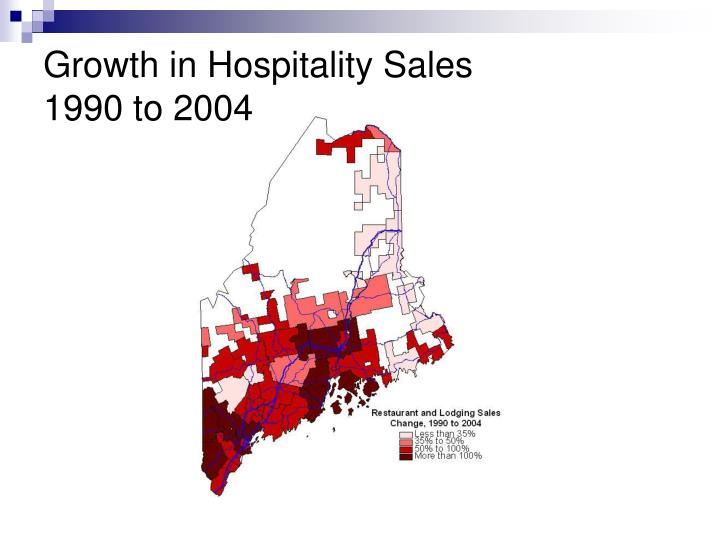 Growth in Hospitality Sales