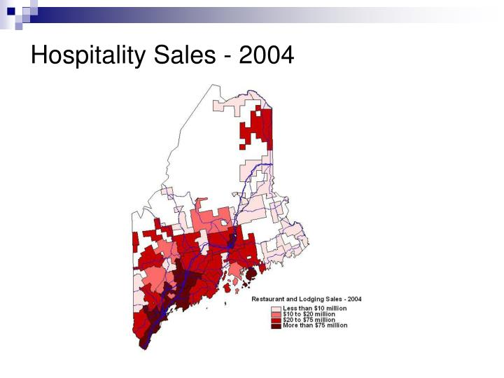Hospitality Sales - 2004