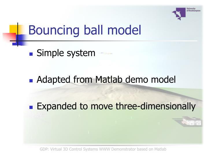 Bouncing ball model
