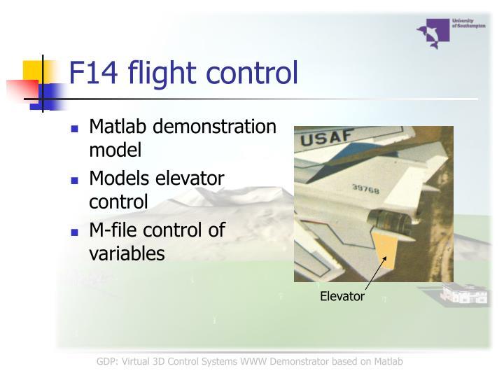 F14 flight control