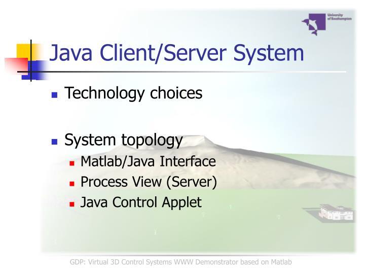 Java Client/Server System