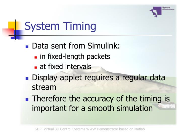 System Timing