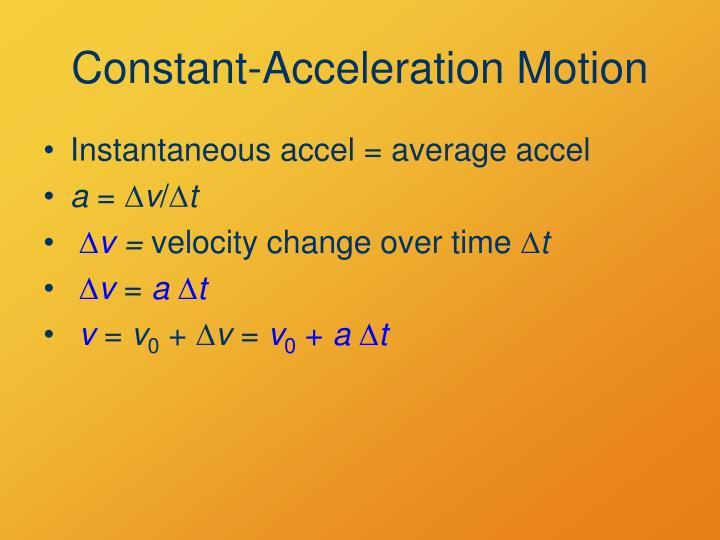 Constant-Acceleration Motion