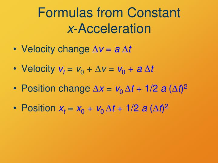Formulas from Constant