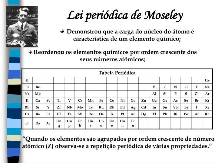 Lei periódica de Moseley