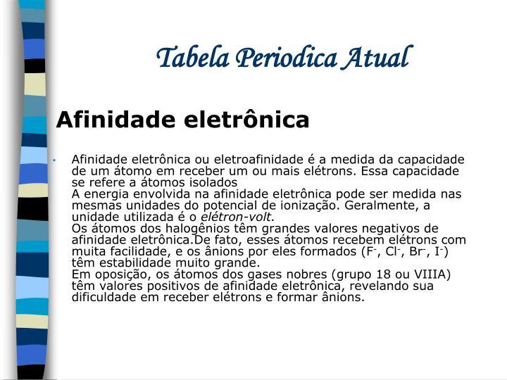 Tabela Periodica Atual